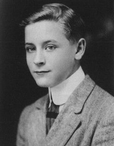 "Francis Scott Fitzgerald, a student at the Catholic school ""Newman Academy."" 1911"