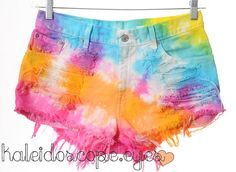 Levis Colorful RAINBOW Tie Dyed Denim High by KaleidoscopeEyesVtg. Ooooohhhh I want these!!