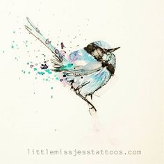 I have this little fairy wren available to tattoo if anyone is interested :) it was a customer draw up but we went a different way with it. Hit the webpage for bookings littlemissjesstattoos.com. I have sometime late september and October xx