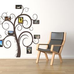 Image detail for -Family Frame Tree Wall Decals Trading Phrases