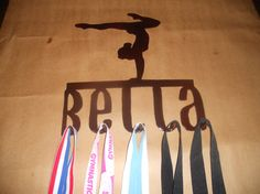 Small Gymnastics Personalized Wall Hanger or Medal Holder on Etsy, $25.00