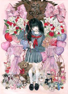 Arte Horror, Horror Art, Art Goth, Manga Art, Anime Art, Arte Lowbrow, Arte Obscura, Vampire Art, Arte Sketchbook