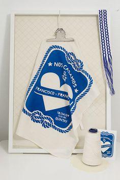 tea towel wedding favor. kind of LOVE this idea.