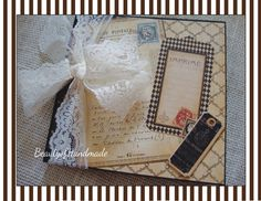 Premade Chipboard Mini Album, Premade 12 Pages,6 X 6 size, Vintage Graphic 45 French Country READY TO SHIP........ $27.50, via Etsy.