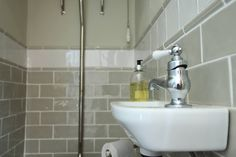 Choosing GORGEOUS tiles for a small space makes the most enormous difference. Here's a few pointers to help you on your way. Downstairs Cloakroom, Cloakroom Sink, Modern Country Style, Loo Roll Holders, Border Tiles, Style Tile, Perfect Pillow, Beautiful Lights, Wow Products