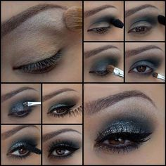 Do your make up like an experienced with these amazing make up guides. see our fantastic post about easy to do eye make up try and become more gorgeous. Love Makeup, Diy Makeup, Makeup Ideas, Awesome Makeup, Makeup Tips, Black Makeup, Stunning Makeup, Photo Makeup, Pretty Makeup