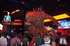 2K Games Evolve booth was a show highlight (as was their game) with its massive monster towering over the crowd.