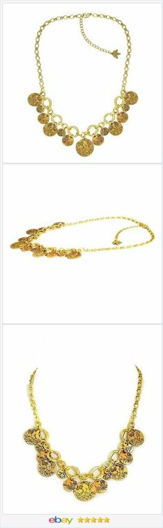 Gold tone Charm Necklace etched 20 to 23 inches long USA Seller #EBAY http://stores.ebay.com/JEWELRY-AND-GIFTS-BY-ALICE-AND-ANN