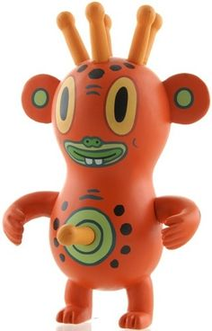 Pupik by Gary Baseman. Neo Kaiju was a blind boxed, well blind egged, series with five participating artists creating two original designs each, one an homage to classic Japanese monsters (kaiju), the other a figure of their own original design.