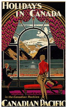 La elegancia de los carteles publicitarios de antes no tiene parangón! Vintage Travel Poster - Canada    via paul.malon http://www.flickr.com/photos/paulmalon/5588955880/in/photostream/