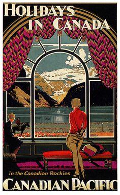 La elegancia de los carteles publicitarios de antes no tiene parangón! Vintage Travel Poster - Canada    via paul.malon http://www.flickr.com/photos/paulmalon/5588955880/in/photostream/