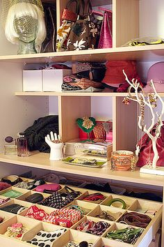 Closet Organization ~ Purses, hats, jewelry and miscellaneous accessories by Nicole Balch