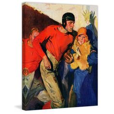 """Marmont Hill - """"Football Player and Fan"""" by McClelland Barclay Painting Print on"""