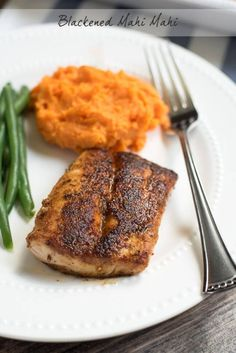 A homemade Cajun spice mix adds incredible flavor to this Blackened Mahi Mahi. It's a quick dish you can easily pull together on a busy weeknight but it's so tasty you'll want to serve it to guests! ~ https://www.fromvalerieskitchen.com
