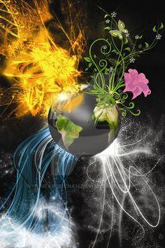 The four elements by mearibiichan on DeviantArt