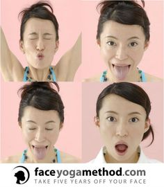 Face Yoga works every muscle in your face. This helps slim the face, neck and jawline.Works so well for aged skin and extra skin from weight loss. Get fuller lips, tighter eyelids and a beautiful, revitalized look. Best Natural Skin Care, Anti Aging Skin Care, Face Yoga Method, Face Yoga Exercises, Yoga Works, Facial Yoga, Extra Skin, Diy Beauty Treatments, Face Massage