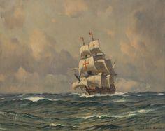 Claus Bergen - Historisches Segelschiff Auf Entdeckungsfahrt (1950)
