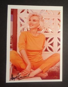Marilyn Monroe, 1962. Signed by photographer George Barris.