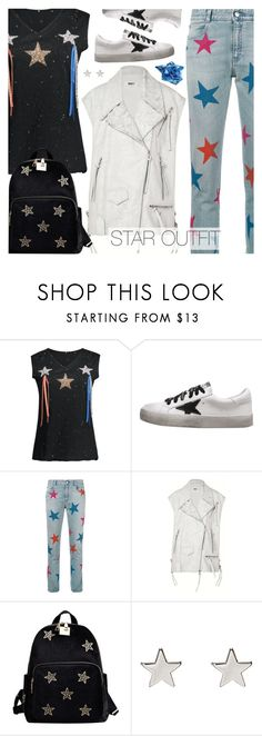 """Twinkle, Twinkle: Star Outfits"" by pokadoll ❤ liked on Polyvore featuring STELLA McCARTNEY, MM6 Maison Margiela, Jennifer Meyer Jewelry and Thierry Mugler"