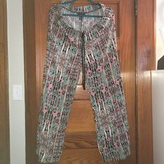 PLUS SIZE Palazzo style pants 1x Size 1x palazzo style pants. Worn once. Small tear in the waist approx 1.5 inches in length. Torn at the waist band. Easily sewn. 100% Rayon. Offers only through offer button. Pants