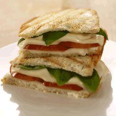 Grilled Tomato, Basil, and Mozzarella Panini made with #GOVeggie Lactose Free Mozzarella Slices