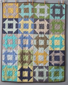 churn dash quilt by audrie.  nice!