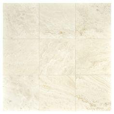 "Complete Tile Collection Natural Stone Travertine Tile, Perlato - Cross Cut Honed, MI#: 111-TH-110-301, Single Tile (12"" x 12""), Nine Tiles (36"" x 36"" Field)"