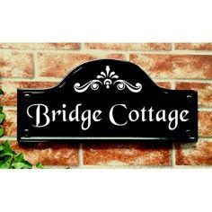Large Bridge Top House Plaque - x House Plaques, Mews House, House Signs, Hand Cast, Bridge, Cottage, Traditional, Top, Design