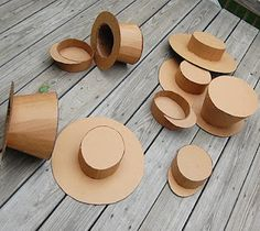 the lowdown on kid-crafting with cardboard (pictured: cardboard hats)