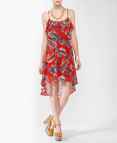 High-Low Paisley Print Dress from Forever21.com