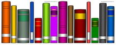 Downloadable book spines to practice ABC or Dewey order!