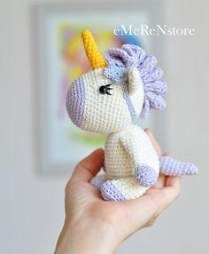 Peluche de unicornio amigurumi ganchillo Unicornio unicornio