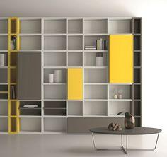 Librería abierta lacada SPEED 22 Colección Speed by Dall'Agnese | diseño Imago Design, Massimo Rosa