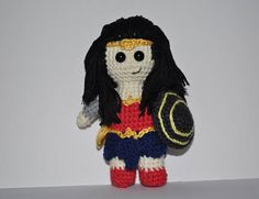 Wonder Woman crochet toy Wonder Woman  amigurumi Wonder Woman
