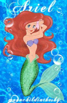 ariel-the little mermaid by MoonchildinTheSky on DeviantArt