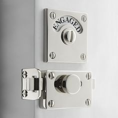 "Great bathroom hardware! Katonah Hardware.  It solves the, ""Is anyone in the bathroom?"" problem and the hardware looks stunning!"