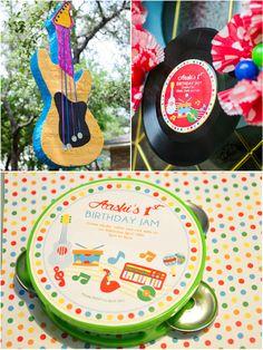 Baby Jam: A Music Inspired 1st Birthday Party Printables - via BirdsParty.com