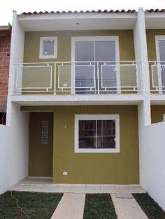 Duplex House Design, Townhouse Designs, Duplex House Plans, Apartment Floor Plans, House Front Design, Small House Design, Small House Plans, Apartment Design, Modern House Design