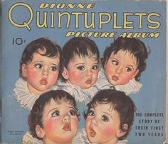Dionne Quintuplets Picture Album by Sweetpearlvintage on Etsy, $25.00