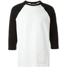 Alexander Wang Patched Baseball T-Shirt in Black/White as seen on Justin Bieber