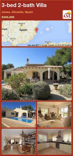 3-bed 2-bath Villa in Javea, Alicante, Spain ►€345,000 #PropertyForSaleInSpain