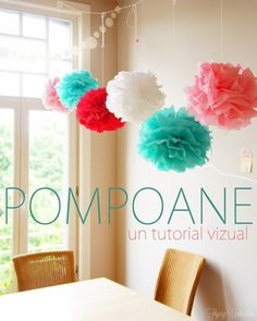 Flying Umbrellas: Pompoane/Pom-poms, un tutorial vizual