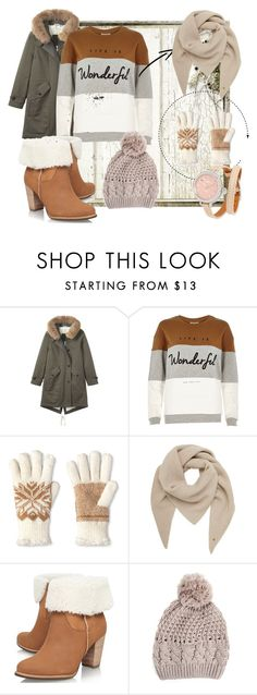 With cold but fashionable by evyvaleramirez on Polyvore featuring moda, River Island, Toast, UGG Australia, Shinola, Mulberry and Isotoner