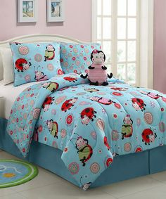Take a look at this Lola Ladybug Reversible Comforter Set by Victoria Classics on #zulily today!