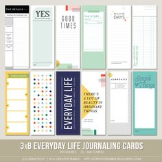 This set of everyday themed digital journaling cards is perfect for pocket page protectors, scrapbooking and mini-books. Included in this set are. Travel Journal Scrapbook, Project Life Scrapbook, Scrapbook Albums, Scrapbooking Layouts, Digital Scrapbooking, Bujo, Journaling, Digital Journal, Wedding Scrapbook