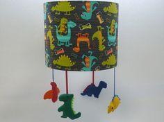 Dinosaur mobile nursery lampshade nursery by mobilampshades, £52.00