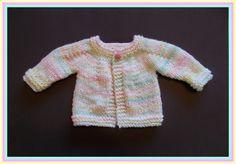Perfect Boy or Girl Top Down Baby Jacket - Chunky Yarn - http://mariannaslazydaisydays.blogspot.com/2014/12/perfect-boy-or-girl-top-down-baby.html