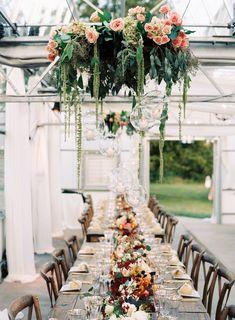 Wedding Trends - Floral Chandeliers.  Image via Austin Gros.
