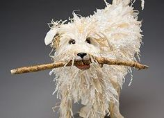 Dog with Stick Mâché sculpture
