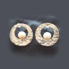 Pendientes perlas naturales y plata